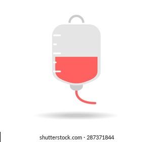 Blood bag vector illustration