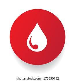 Blood button,vector