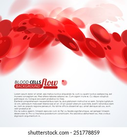Blood cells flow medical background