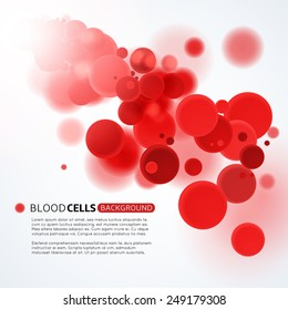 Blood cells medical background