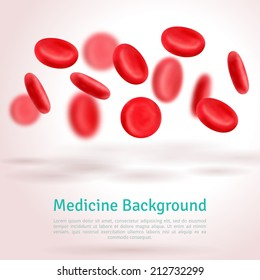 Blood cells. Medical background. Vector illustration.