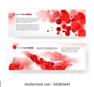 Blood cells medical banners