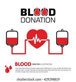 Blood Donation. blood bank donating the heart. 14th June World Blood Donor Day template