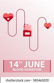 Blood donation banner. Medical illustration Vector illustration