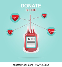 Blood donation design, Save Life and Be a Hero. medical and healthcare concept Vector Illustration