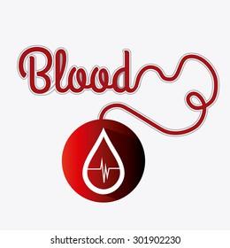 Blood donation design, vector illustration eps 10.