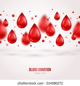 Blood Donation Lifesaving and Hospital Assistance Poster or Flyer. Vector illustration. World Donor Day Banner.