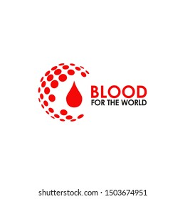 Blood donation logo icon design vector illustration template for health care or hospital activity