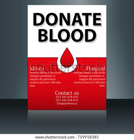 blood donor flyer design template vector stock vector royalty free
