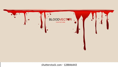 Blood dripping, illustration by vector design.