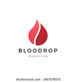 blood drop donation logo vector icon illustration
