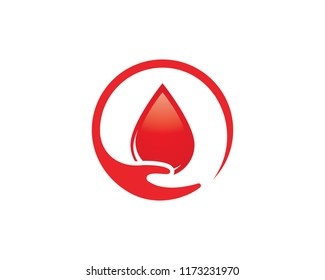 Blood drop donor vector illustration