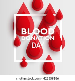 blood drop paper day blood donation background