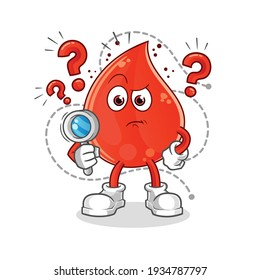 blood drop searching illustration. character vector
