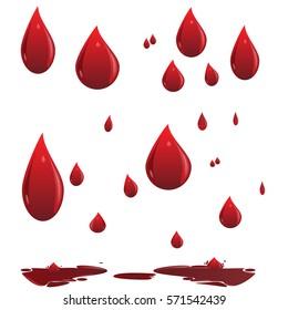 Blood. Drops.