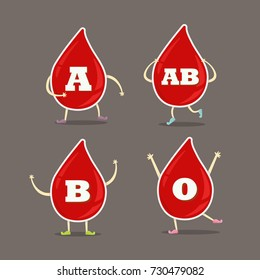 Blood Group Cartoon Style