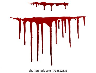 Blood isolated on white,Halloween concept