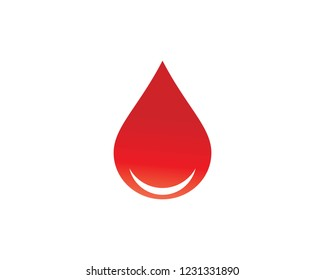 Blood Logo vector icon illustration design