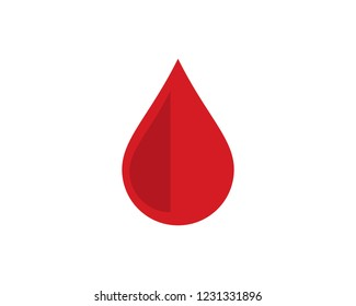 Blood Logo vector icon illustration design