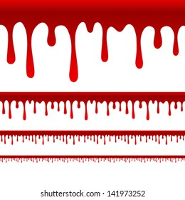 Blood or Paint Drips vector - wider versions for wider layouts