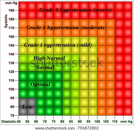Blood Pressure Chart Stock Vector Royalty Free 796872802