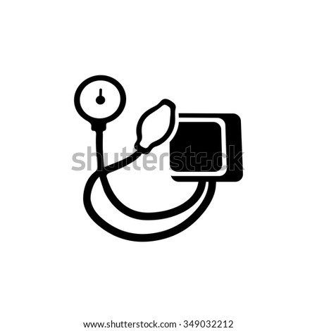 Blood Pressure Device Icon Stock Vector Royalty Free 349032212