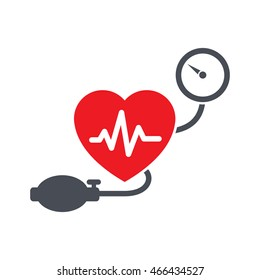 Blood Pressure Icon Vector - Simple, flat design style