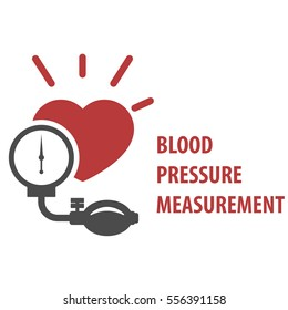 Blood pressure measurement icon - sphygmomanometer