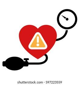 Blood pressure measuring icon. Vector hypertension concept.