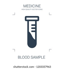 blood sample icon. high quality filled blood sample icon on white background. from medical collection flat trendy vector blood sample symbol. use for web and mobile