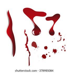 Blood spatter vector eps 10