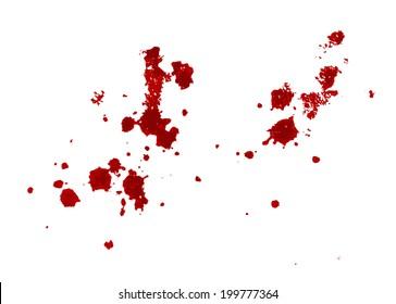 blood splatter on white background