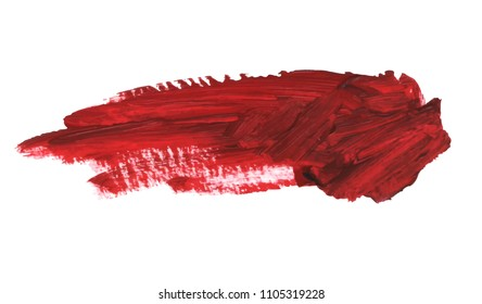Blood splatter painted vector isolated on white for halloween design. Red dripping blood drop watercolor