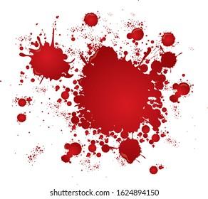 blood splatter splash drop pain