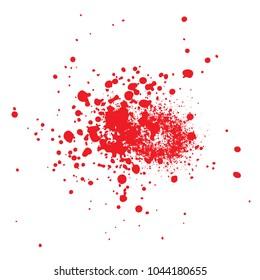 blood splatter vector isolated on white background