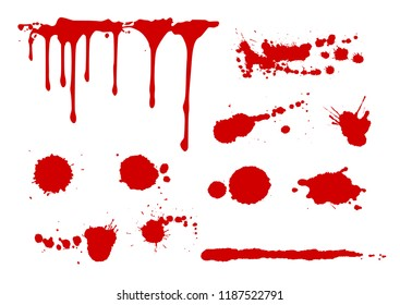 Blood splatters collection ,  vector illustration