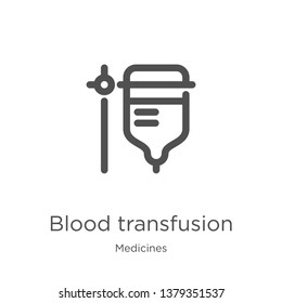 blood transfusion icon. Element of medicines collection for mobile concept and web apps icon. Outline, thin line blood transfusion icon for website design and mobile, app development