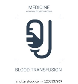 blood transfusion icon. high quality filled blood transfusion icon on white background. from medical collection flat trendy vector blood transfusion symbol. use for web and mobile