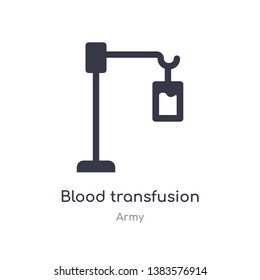 blood transfusion icon. isolated blood transfusion icon vector illustration from army collection. editable sing symbol can be use for web site and mobile app