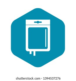 Blood transfusion icon. Simple illustration of blood transfusion vector icon for web