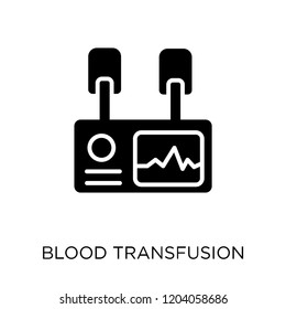 Blood transfusion icon. Blood transfusion symbol design from Health and medical collection. Simple element vector illustration on white background.