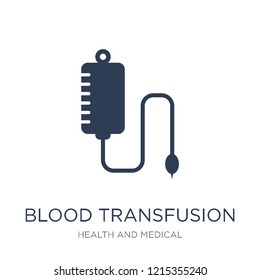 Blood transfusion icon. Trendy flat vector Blood transfusion icon on white background from Health and Medical collection, vector illustration can be use for web and mobile, eps10