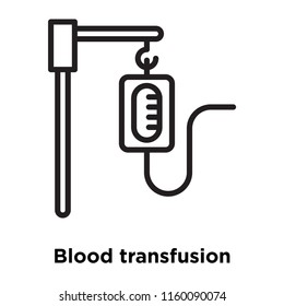 Blood transfusion icon vector isolated on white background, Blood transfusion transparent sign , line and outline elements in linear style