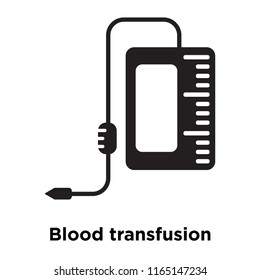 Blood transfusion icon vector isolated on white background, Blood transfusion transparent sign , medical health symbols