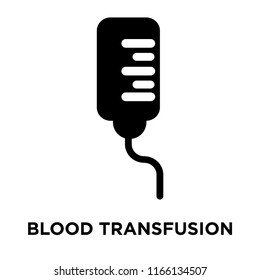 Blood transfusion icon vector isolated on white background, Blood transfusion transparent sign