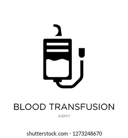 blood transfusion icon vector on white background, blood transfusion trendy filled icons from Army collection, blood transfusion simple element illustration