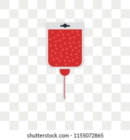 Blood transfusion vector icon isolated on transparent background, Blood transfusion logo concept