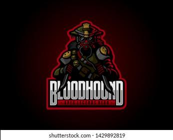 Bloodhound Apex Legends Hero eSports Mascot Logo