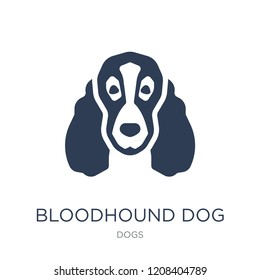 Bloodhound dog icon. Trendy flat vector Bloodhound dog icon on white background from dogs collection, vector illustration can be use for web and mobile, eps10