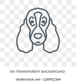 Bloodhound dog icon. Trendy flat vector Bloodhound dog icon on transparent background from dogs collection. High quality filled Bloodhound dog symbol use for web and mobile